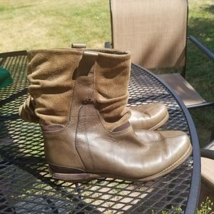 Patagonia Addie leather and suede slouch boots